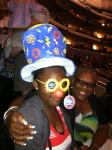 Janice & her granddaughter Tyra clowin' around at the Circus on 07-22-11